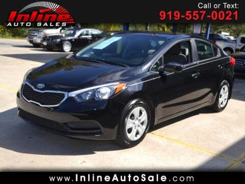2015 Kia Forte for sale at Inline Auto Sales in Fuquay Varina NC