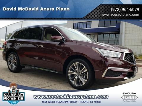 David Mcdavid Acura Austin >> 2017 Acura Mdx For Sale In Plano Tx