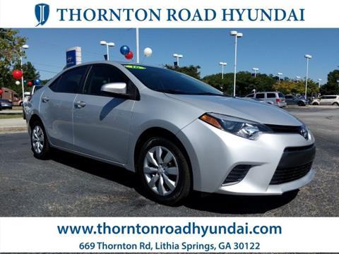 2016 Toyota Corolla for sale in Lithia Springs, GA