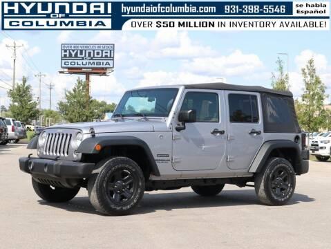 2016 Jeep Wrangler Unlimited for sale at Hyundai of Columbia Con Alvaro in Columbia TN