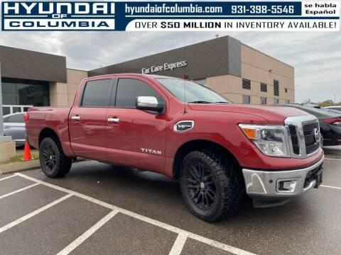 2017 Nissan Titan for sale at Hyundai of Columbia Con Alvaro in Columbia TN
