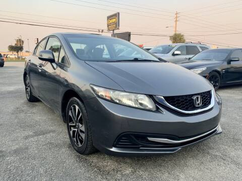 2013 Honda Civic EX for sale at CAR VIPS ORLANDO LLC in Orlando FL