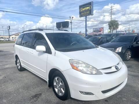 2009 Toyota Sienna XLE for sale at CAR VIPS ORLANDO LLC in Orlando FL