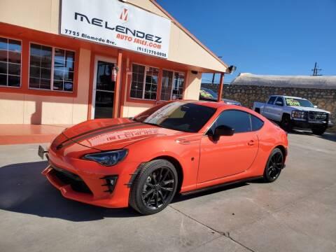 Melendez Auto Sales >> 2017 Toyota 86 For Sale In El Paso Tx