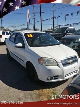 2010 Chevrolet Aveo LT for sale at ST Motors in El Paso TX