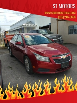 2012 Chevrolet Cruze ECO for sale at ST Motors in El Paso TX