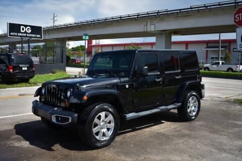2013 Jeep Wrangler Unlimited for sale at ELITE MOTOR CARS OF MIAMI in Miami FL