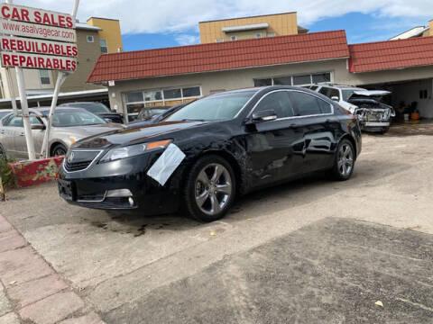 2014 Acura TL for sale at ELITE MOTOR CARS OF MIAMI in Miami FL