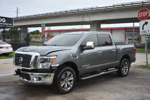 2017 Nissan Titan for sale at ELITE MOTOR CARS OF MIAMI in Miami FL