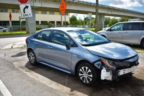 2020 Toyota Corolla Hybrid for sale at ELITE MOTOR CARS OF MIAMI in Miami FL