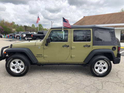 2013 Jeep Wrangler Unlimited Sport for sale at Richmond Rocket Auto Sales in Mechanicsville VA