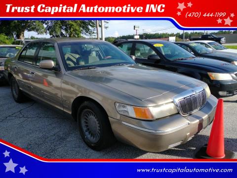 2001 Mercury Grand Marquis for sale at Trust Capital Automotive INC in Covington GA