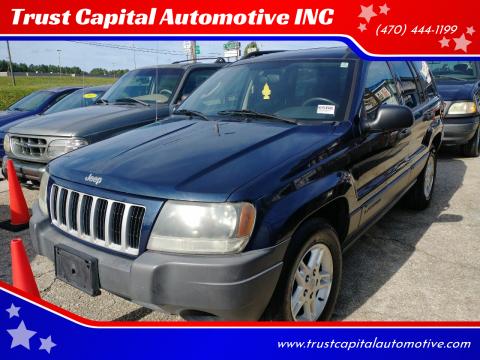2004 Jeep Grand Cherokee for sale at Trust Capital Automotive INC in Covington GA