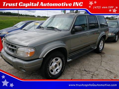 1999 Ford Explorer for sale at Trust Capital Automotive INC in Covington GA