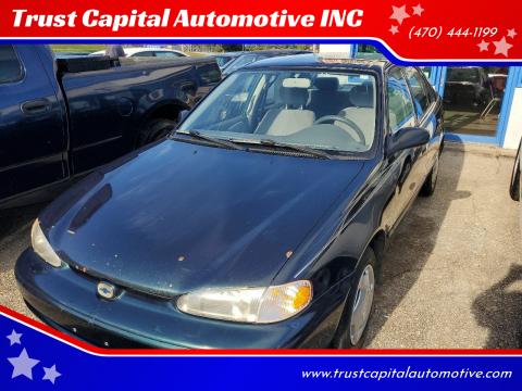 1999 Chevrolet Prizm for sale at Trust Capital Automotive INC in Covington GA