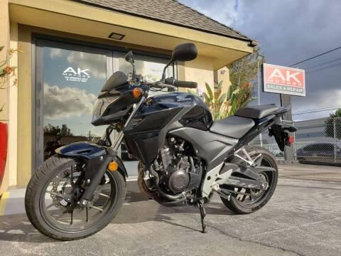 2014 Honda CB500F for sale at AK MOTORS in El Cajon CA