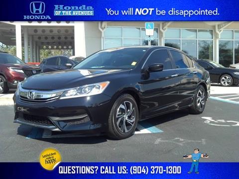 2016 Honda Accord for sale in Jacksonville, FL