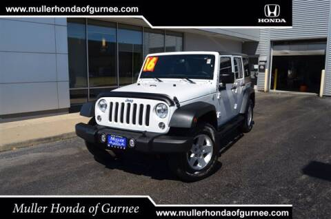 2016 Jeep Wrangler Unlimited for sale at RDM CAR BUYING EXPERIENCE in Gurnee IL