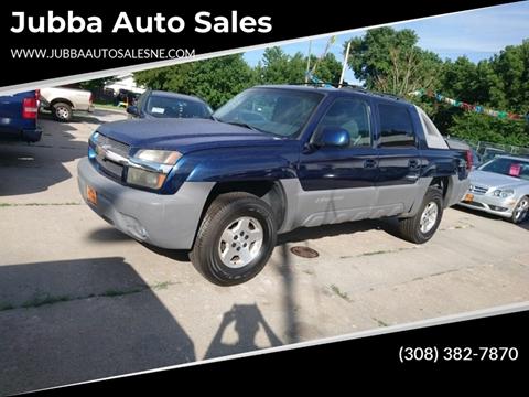 2002 Chevrolet Avalanche 1500 for sale at Jubba Auto Sales in Grand Island NE