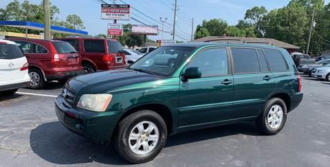 Toyota El Centro >> 2003 Toyota Highlander For Sale In Jacksonville Fl