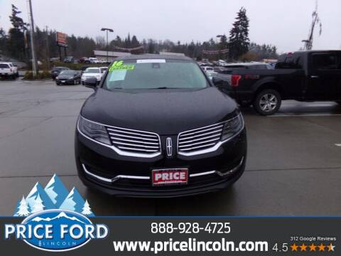 2016 Lincoln MKX for sale at Price Ford Lincoln in Port Angeles WA