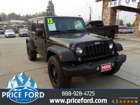 2015 Jeep Wrangler Unlimited for sale at Price Ford Lincoln in Port Angeles WA