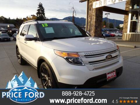 2013 Ford Explorer for sale at Price Ford Lincoln in Port Angeles WA