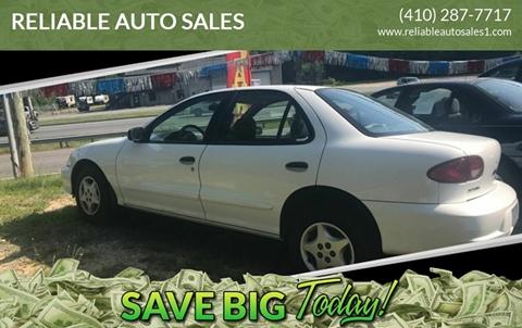 2002 Chevrolet Cavalier for sale in Elkton, MD
