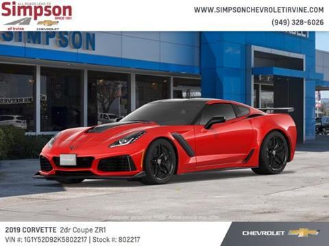2019 Chevrolet Corvette for sale in Irvine, CA