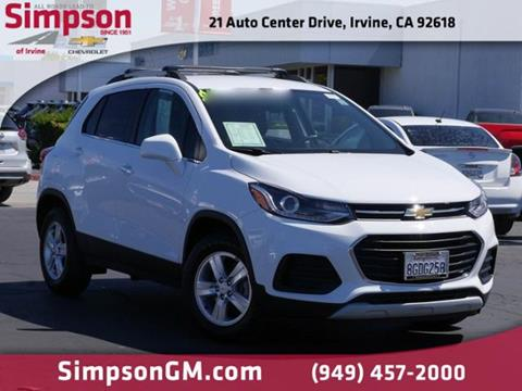 2018 Chevrolet Trax for sale in Irvine, CA
