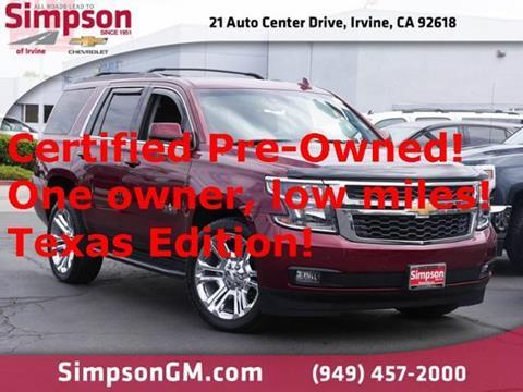 2017 Chevrolet Tahoe for sale in Irvine, CA