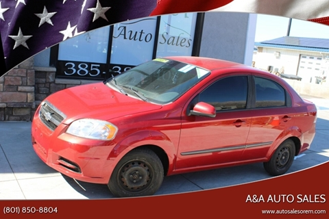 2011 Chevrolet Aveo LS for sale at A&A Auto Sales in Orem UT