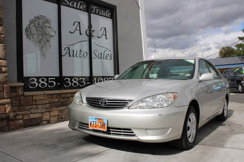 2002 Toyota Camry LE for sale at A&A Auto Sales in Orem UT