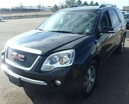 2010 GMC Acadia SLT-1 for sale at R Lamar Cars LLC in Colorado Springs CO