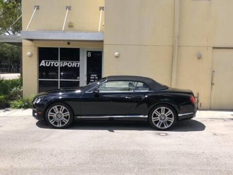 2013 Bentley GTC for sale at AUTOSPORT in Wellington FL