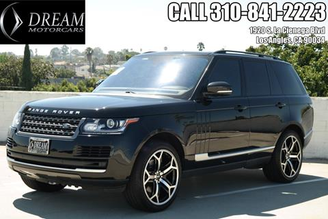 2016 Land Rover Range Rover for sale in Los Angeles, CA