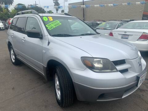 2003 Mitsubishi Outlander for sale at North County Auto in Oceanside CA