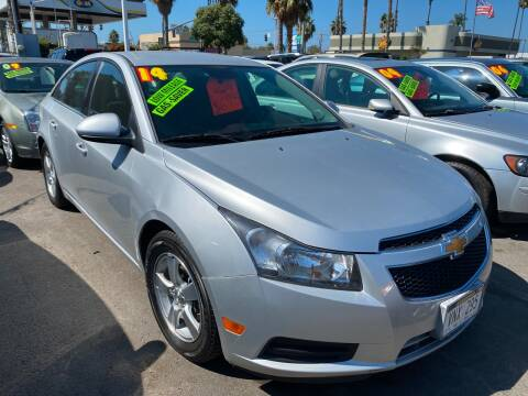 2014 Chevrolet Cruze for sale at North County Auto in Oceanside CA