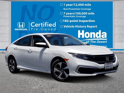 2019 Honda Civic for sale in Cathedral City, CA
