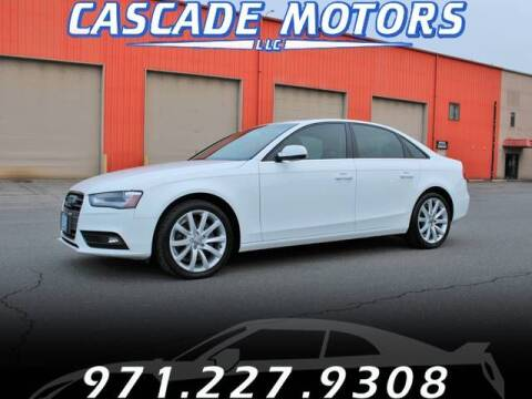 2013 Audi A4 for sale at Cascade Motors in Portland OR