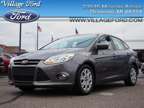 2012 Ford Focus SE for sale at VILLAGE FORD INC in Dearborn MI