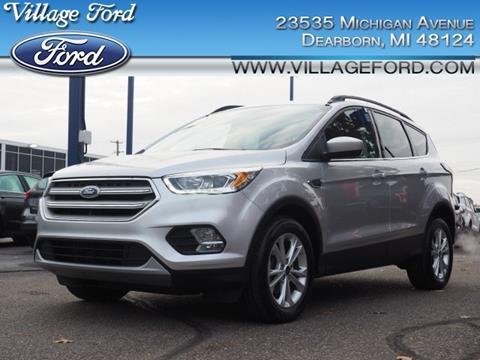 2018 Ford Escape SEL for sale at VILLAGE FORD INC in Dearborn MI