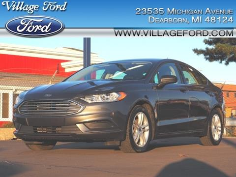 2018 Ford Fusion SE for sale at VILLAGE FORD INC in Dearborn MI