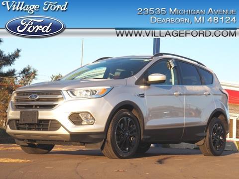 2017 Ford Escape SE for sale at VILLAGE FORD INC in Dearborn MI