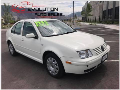2003 Volkswagen Jetta for sale at Evolution Auto Sales LLC in Springville UT