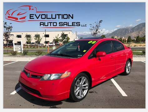 2008 Honda Civic for sale at Evolution Auto Sales LLC in Springville UT