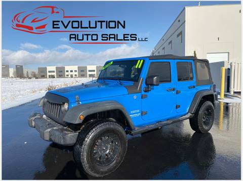 2011 Jeep Wrangler Unlimited for sale at Evolution Auto Sales LLC in Springville UT