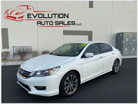 2015 Honda Accord for sale at Evolution Auto Sales LLC in Springville UT