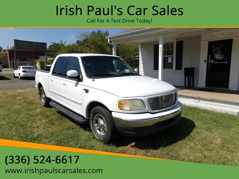 2001 Ford F-150 Lariat for sale at Irish Paul's Car Sales in Burlington NC