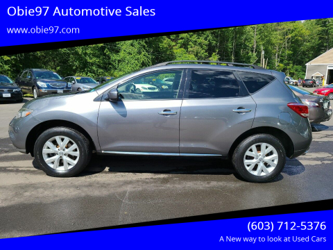 2013 Nissan Murano for sale at Obie97 Automotive Sales in Londonderry NH